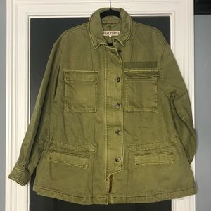 NWT Free People Seize The Day Military Jacket
